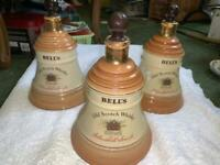 3 Wade Bell's Old Scotch Whiskey with Original Toppers for sale  Ballymena, County Antrim