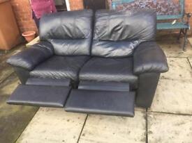 Gorgeous black leather recliner sofa