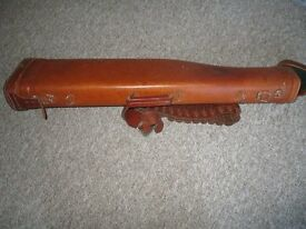"Gun Case ""leg o mutton"" solid leather protection for your shotgun + cartridge belt"