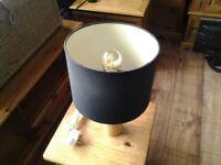 Vintage wooden lamp