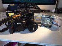 Nikon 7100 DSLR Camera with 18-105mm f3.5-5.6 ED VR lens with sb-23 speedlight