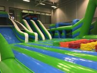 INFLATABLE THEME PARK - BOUNCY CASTLES - DUDLEY COLLEGE - PLANET INFLATA - KIDS/CHILDREN/ADULTS