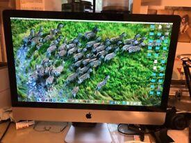 APPLE iMac 27in mid 2011 i5 2.7GHs 1TB HDD 8GB RAM like new