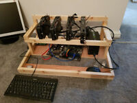 4 GPU ethereum mining rig. Up to 1000M/H £1400 ONO