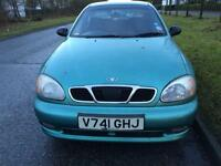 Daewoo lanos 1.6 petrol with 9month mot very low mileage 71k