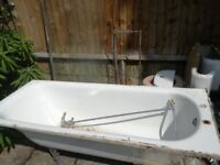 Steel bath and toilet good working condition