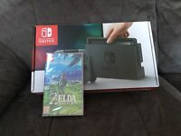 Nintendo Switch Brand new still sealed with Zelda Breath of the wind with receipt