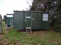 portacabin referees room with shower & toilet.