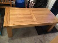 Oak living room table with matching oak nest of tables. Quick sale required