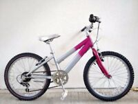"SALE!!! (2097) 20"" RALEIGH GIRLS MOUNTAIN HYBRID BIKE BICYCLE Age: 6-9 Height: 120-135cm"