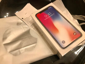Iphone X 64gb SPACE GREY with apple receipt UNLOCKED SEALED