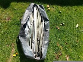 Various used awning poles