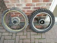 MX wheels MotoX Motorcross Front And Rear Wheels