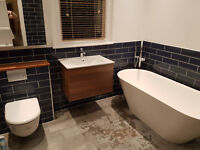 Bathroom and kitchen fitting from A to Z, tiling, plumbing, plastering, painting & decorating