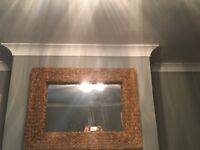 Beautiful large solid woven mirror