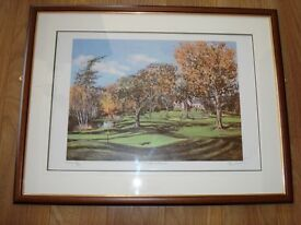 Morgan Fisher Limited Edition Golf Print of Meldrum House Golf Club signed by a PGA Golfer