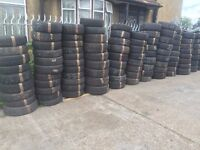 """PART WORN TYRES 13"""" 14"""" 15"""" 16"""" 17"""" 18"""" 19"""" 20"""" FROM £10 FITTED MANY SIZES AVAILABLE GOOD MM"""
