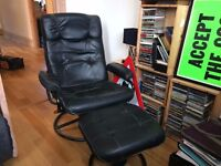 Black Leather recliner chair - FREE