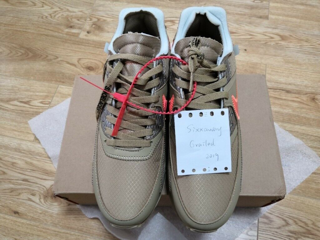 56f837822f3 The 10 Off-White x Nike Air Max 90 Desert Ore