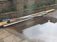 3 scaffolding poles with clamp
