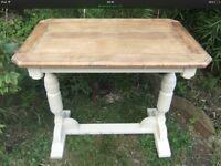 Restored oak side table