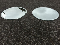 Pair of Habitat Mirror Topped Side/Lamp Tables .
