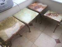4 Italian marble side tables