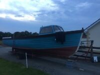 24ft fibre glass fishing boat