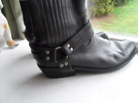 MENS ANKLE BOOT LEATHER VINTAGE SIZE 12