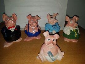 Wade. Full set of Nat West Pigs