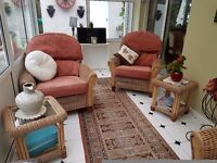 Beautiful Conservatory Suite 2-1-1 with Two Coffee Tables
