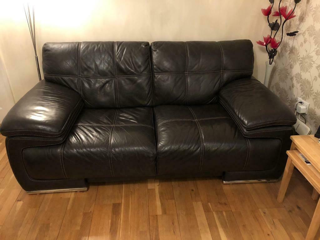 Violino Leather 3 2 Seater Sofas In
