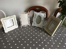 Pretty, vintage-style photo frames