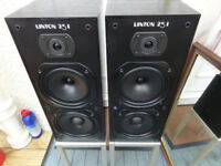 Very rare Wharfedales Linton 25i speakers with stands ideal for Jazz Blue Classical