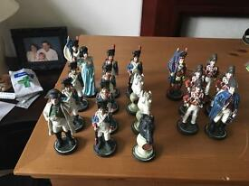 19 resin chess pieces
