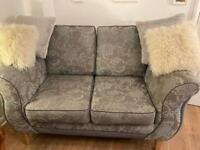 2 seater settee & small 2 seater settee