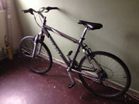 giant rock mounting bike 19 1/2 inch frame racing wheels 27 speed g-condition