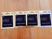 MARKS AND SPENCER VOUCHERS FOR SALE
