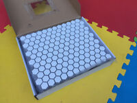 1 box of white hexagon mosaic tiles