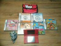 Nintendo DSi (Pink) with Charger and 6 games