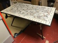 Tiled garden table - 73kg