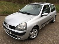 Stunning 2005 05 Renault Clio 1.2 Dynamique 3Dr **2 Owners+Only 80000+Mot Mar 2017+Great Spec**