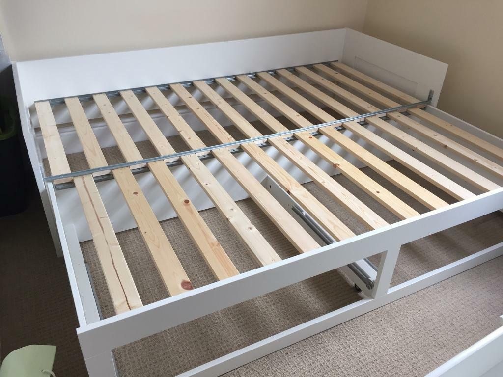 moving sale: ikea brimnes day bed (day-bed: converts from single