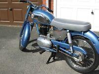 1967 james captain 200cc classic motorcycle