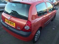 Renault Clio 2004 ready to go, moted, cheap tax 499