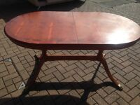 Beautiful extending dining table - seats 8+ - by Morrison's of Glasgow (upholsterers of the Titanic)