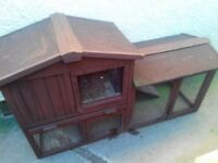 Rabbit hutch with built in run for sale NO TIME WASTERS