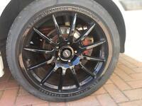 """Team Dynamics 18"""" 5x120 BMW staggered alloys"""