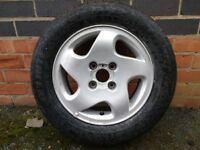 Alloy Wheel with BRAND NEW Tyre for Ford Fiesta