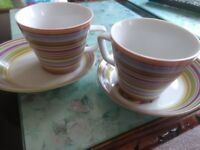 Beautiful pair of cups and saucers